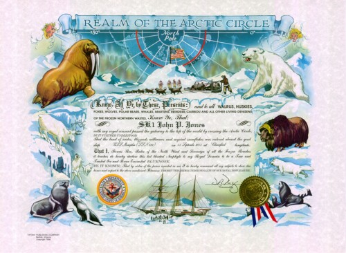 Blue Nose Certificate