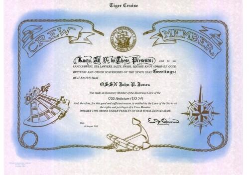 Crew Member Certificate