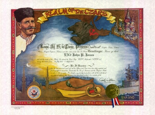 Realm of the Czars Certificate