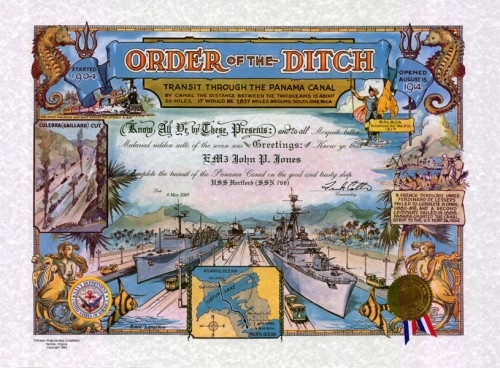 Order of the Ditch Certificate (Traditional Version)