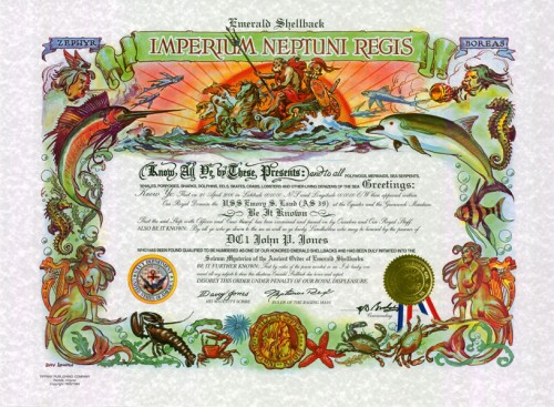 Emerald Shellback Certificate (Traditional Version)