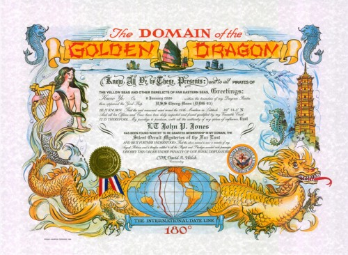 Golden Dragon Certificate (Traditional Version)