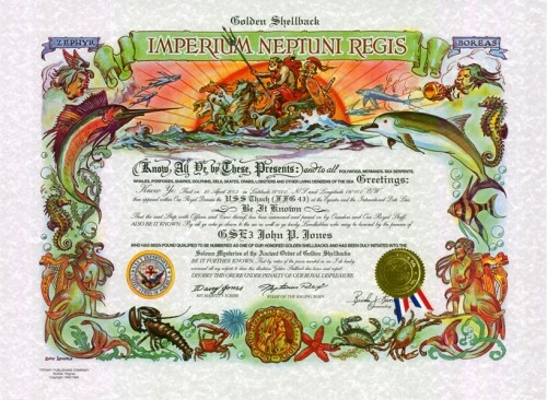 Golden Shellback Certificate (Traditional Version)