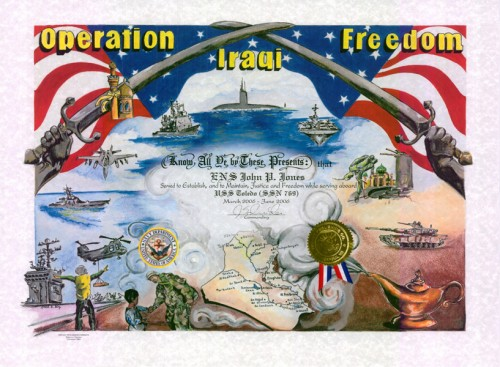 Operation Iraqi Freedom Certificate
