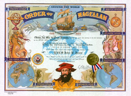 Order of Magellan Certificate (Traditional Version)