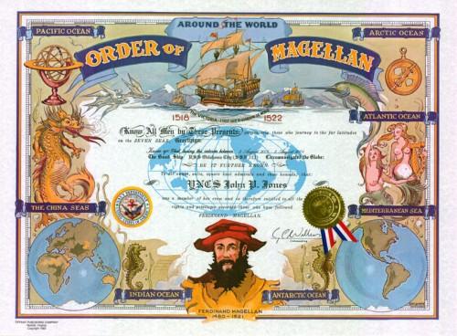 Order of Magellan Certificate (Traditional Version)