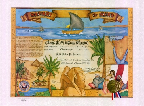 Safari to Suez Certificate