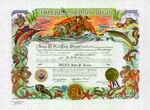 Shellback Certificate (Traditional Version)