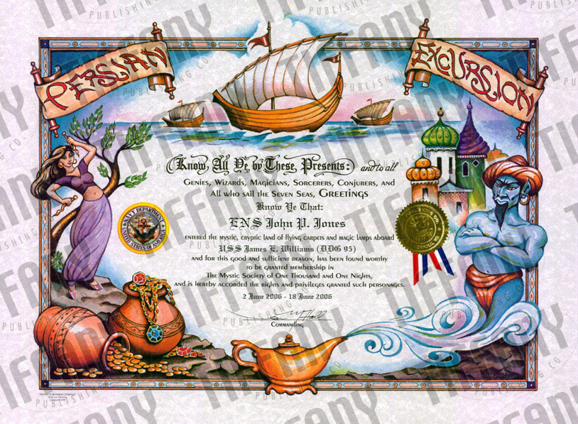 Persian Excursion Certificate